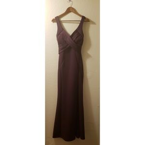 Windsor Dresses - Purple floor length dress with slit